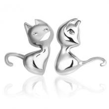 ต่างหูแมว ต่างหูเงิน ต่างหูแฟชั่น แมวการ์ตูน ต่างหูแบบก้านเสียบ