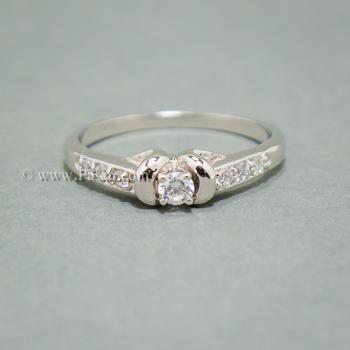 แหวนเพชร แหวนผู้หญิง แหวนเงินแท้ #2
