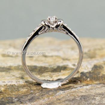 แหวนเพชร แหวนผู้หญิง แหวนเงินแท้ #5