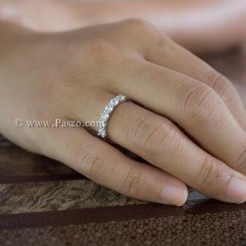 แหวนพลอยแถว แหวนเพชร แหวนเงินแท้ #2