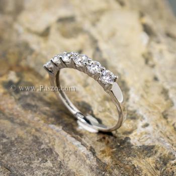 แหวนพลอยแถว แหวนเพชร แหวนเงินแท้ #5