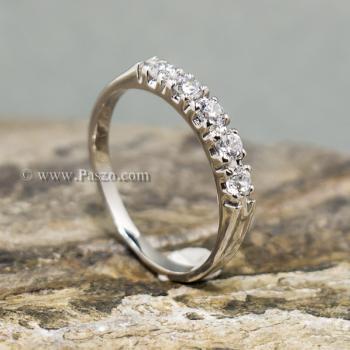 แหวนเพชร พลอย5เม็ด แหวนเงินแท้ #4