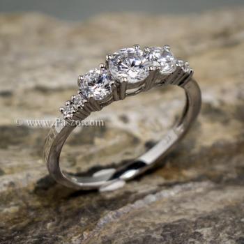 แหวนเพชร แหวนเงินแท้ ฝังเพชร #5