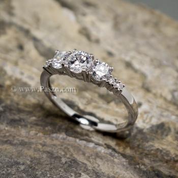 แหวนเพชร แหวนเงินแท้ ฝังเพชร #2