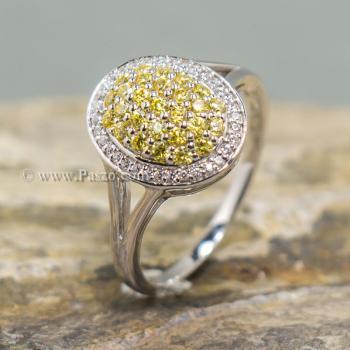 แหวนล้อมเพชร แหวนบุษราคัม ล้อมเพชร #6