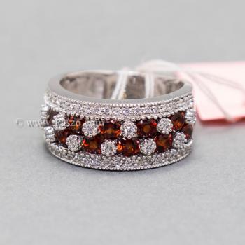 แหวนพลอยโกเมน พลอยสีแดง แหวนเพชร #4