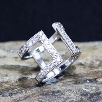 แหวนเพชร แหวนแฟชั่น แหวนเงินแท้ #2
