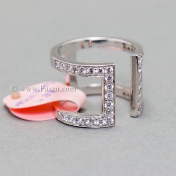 แหวนเพชร แหวนแฟชั่น แหวนเงินแท้ #5
