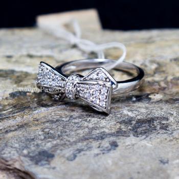 แหวนโบว์ แหวนเพชร แหวนเงินแท้ #4