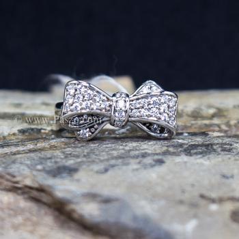 แหวนโบว์ แหวนเพชร แหวนเงินแท้ #5
