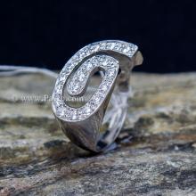 แหวนเพชร แหวนเงินแท้ ฝังเพชร