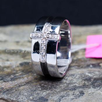 แหวนเพชร แหวนไม้กางเขน แหวนเงินแท้ #3