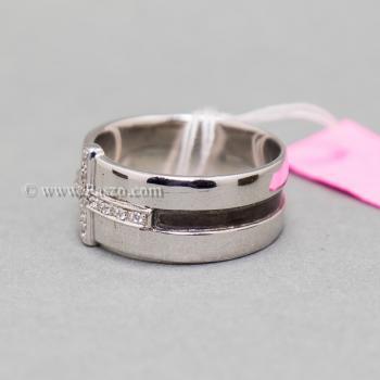 แหวนเพชร แหวนไม้กางเขน แหวนเงินแท้ #5