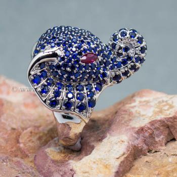 แหวนช้าง แหวนพลอยไพลิน พลอยสีน้ำเงิน #5