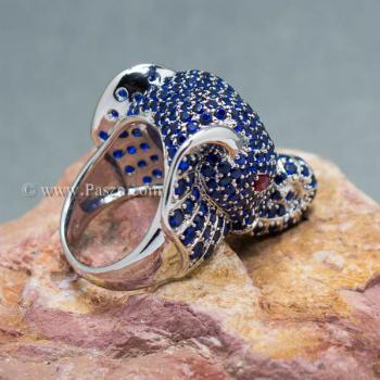 แหวนช้าง แหวนพลอยไพลิน พลอยสีน้ำเงิน #3
