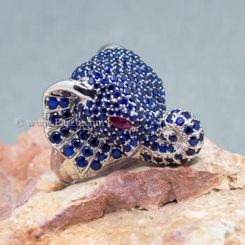 แหวนช้าง แหวนพลอยไพลิน พลอยสีน้ำเงิน #4
