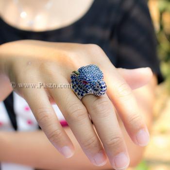 แหวนช้าง แหวนพลอยไพลิน พลอยสีน้ำเงิน #8