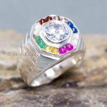 แหวนนพเก้า แหวนผู้ชาย แหวนแปดเหลี่ยม