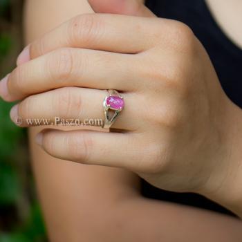 แหวนพลอยทับทิม พลอยแท้ แหวนเงินแท้ #3
