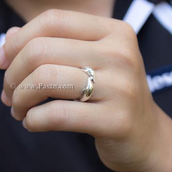 แหวนปลาโลมาคู่ แหวนเงินแท้  #4