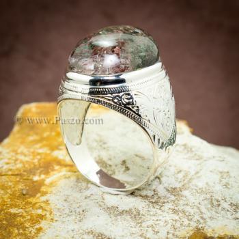 แหวนแก้วโป่งข่าม แหวนทรงมอญแกะลาย แหวนผู้ชาย #5
