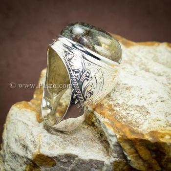 แหวนแก้วโป่งข่าม แหวนทรงมอญแกะลาย แหวนผู้ชาย #3