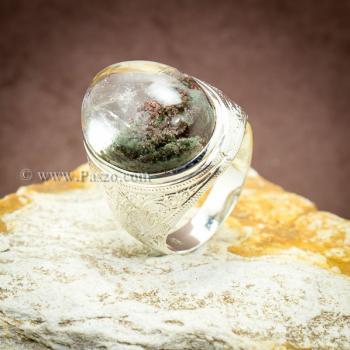 แหวนแก้วโป่งข่าม แหวนทรงมอญแกะลาย แหวนผู้ชาย #2