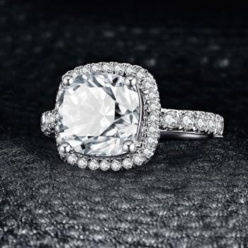 แหวนเงิน ฝังเพชร แหวนเพชร #3
