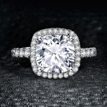 แหวนเงิน ฝังเพชร แหวนเพชร #2