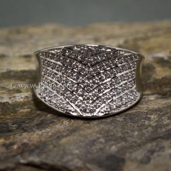 แหวนเพชร แหวนเงินแท้  #2
