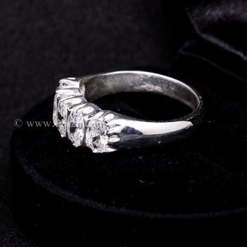 แหวนเพชร แหวนเงินแท้ ฝังเพชร #4