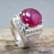 แหวนผู้ชายกินบ่เซี้ยง แหวนผู้ชาย แหวนกินบ่อเซี่ยง แหวนทับทิม แหวนผู้ชายเงินแท้