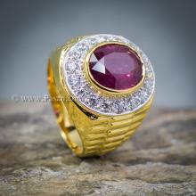 แหวนโรเล็กซ์ แหวนพลอยผู้ชาย แหวนทับทิม ล้อมเพชร เพชรสวิส แหวนผู้ชายทองแท้ แหวนขนาดกลาง
