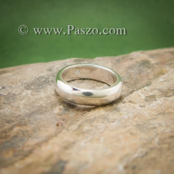 แหวนมุกดาหาร แหวนเงินหน้าโค้ง ฝังพลอยมูนสโตน #3