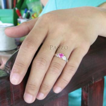 แหวนสีชมพู แหวนโทพาซ แหวนเงินแท้ #4