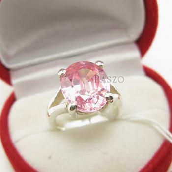 แหวนพลอยสีชมพู แหวนโทพาซ เม็ดเดี่ยว #2