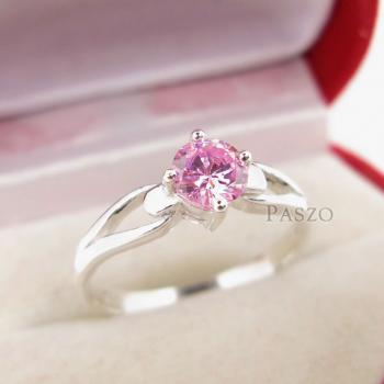 แหวนพลอยสีชมพู แหวนโทพาซสีชมพู PinkTopaz #3