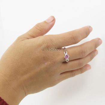 แหวนพลอยสีชมพู แหวนโทพาซสีชมพู PinkTopaz #6
