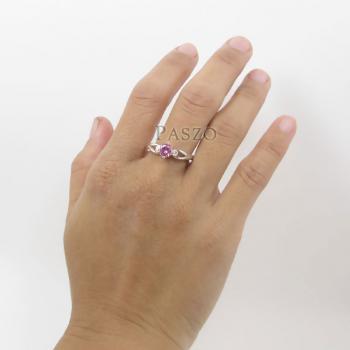 แหวนพลอยสีชมพู แหวนโทพาซสีชมพู PinkTopaz #7