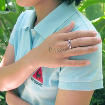 แหวนสีม่วง แหวนพลอยอะเมทิส แหวนแถว #4