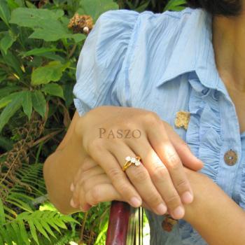 แหวนเพชร แหวนทองชุบ  #4