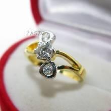 แหวนเพชร แหวนทองชุบ