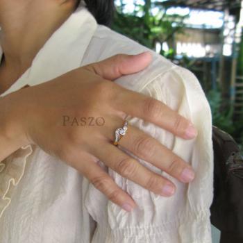 แหวนเพชร แหวนดวงตา แหวนทองชุบ #4