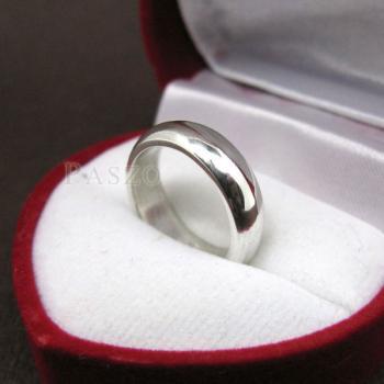 แหวนเกลี้ยงหน้าโค้ง กว้าง4มิล แหวนปลอกมีด #2