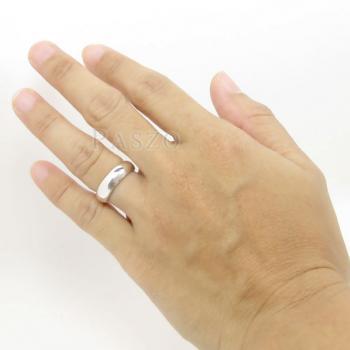 แหวนเกลี้ยงหน้าโค้ง กว้าง4มิล แหวนปลอกมีด #4