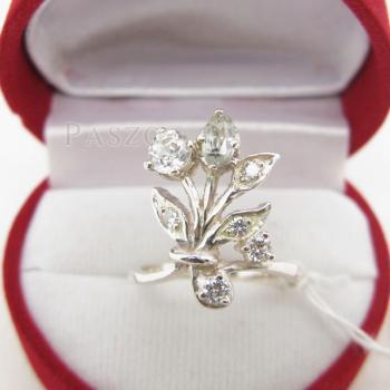 แหวนเพชร แหวนช่อดอกไม้ ฝังเพชร #2