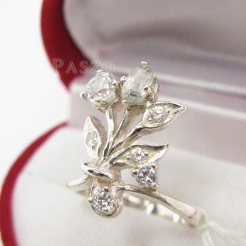 แหวนเพชร แหวนช่อดอกไม้ ฝังเพชร #3