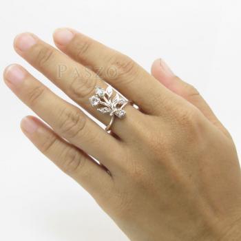 แหวนเพชร แหวนช่อดอกไม้ ฝังเพชร #4
