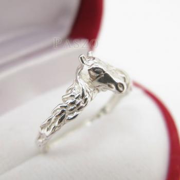 แหวนหัวม้า แหวนเงินแท้ 925 #2