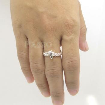 แหวนหัวม้า แหวนเงินแท้ 925 #3